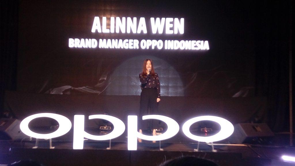 Alinna Wen, Brand Manager Oppo Indonesia (foto Bunda Sitti Rabiah)