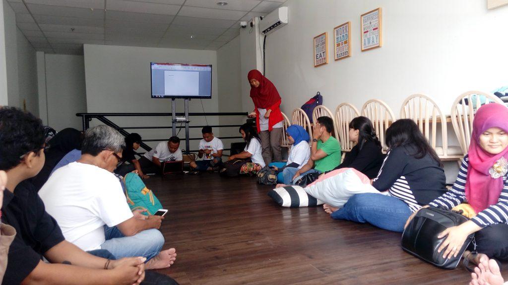Suasana saat pelatihan (foto: Sitti Rabiah)