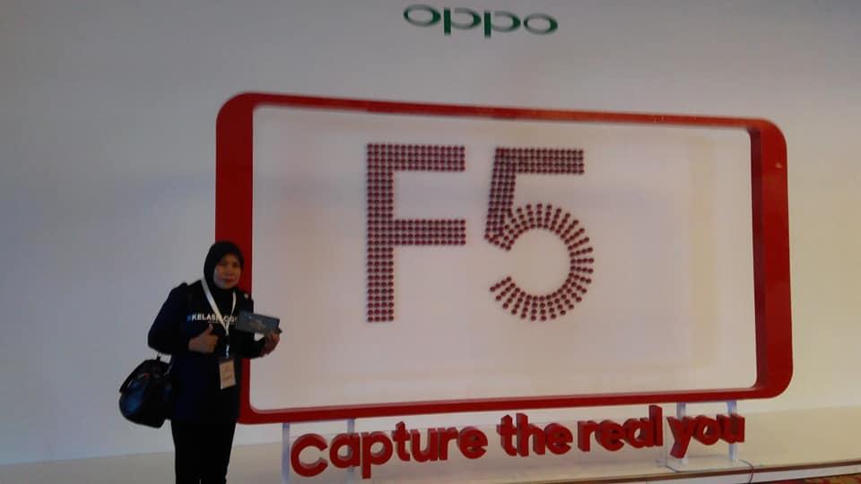 Narsis sebelum acara launching OPPO F5 (foto dok pribadi)