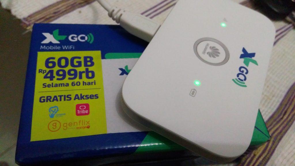Hadiah yang dapat berupa doorprise modem Mobile WiFi XL GO seharga Rp499 ribu dengan 60 GB (foto Bunda Sitti Rabiah)